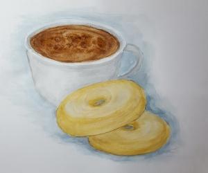 coffe and doughnuts